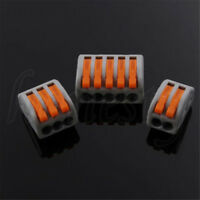 3/5/10PCS Spring Lever Push Fit Reusable Cable 2 3 5 Way Wire Connector For Wago
