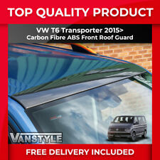 VW T6 TRANSPORTER 2015-19 ABS CARBON FIBRE FRONT ROOF GUARD PROTECTOR COVER TRIM