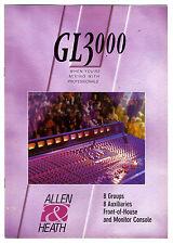 ALLEN & HEATH - GL3000 CATALOGO ORIGINAL  (  ORIGINAL CATALOG )