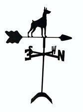doberman pinscher roof weathervane black wrought 