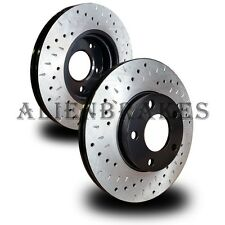 FOR016FS Ford Focus 2008-11 Front Set Rotors Cross Drill & Dimple Slots