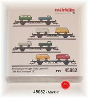 "MÄRKLIN 45082 Autotransportwagen-Set ""VW-Bus Transport T2"" der DB #NEU in OVP#"