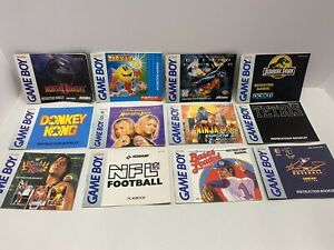 Group  Of 12 Nintendo Gameboy Instruction Booklets
