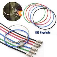 Keys Chain EDC Keychain Wire Keyrings Key Holder Stainless Steel Carabiner