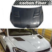 Fits Volkswagen Golf7 R VII MK7 GTI 14-17 Engine Hood Cover Bonnet Lid Carbon