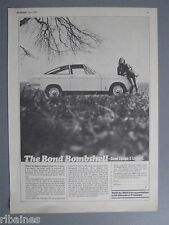 R&L Ex-Mag Advert: Bond Equipe 2v Litre GT/Goodyear Tyres, Bobby Unser