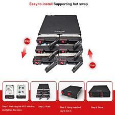 6 Bays Mobile Rack Backplane fr 2.5'' HDD SSD w/Cooling Fan Locker Hot-swap