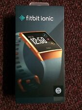 Fitbit Ionic Burnt Orange Case And Slate Blue Band