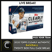 2020 TOPPS CLEARLY AUTHENTIC 20 BOX (FULL CASE) BREAK #A846 - PICK YOUR TEAM