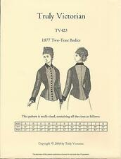 Schnittmuster Truly Victorian TV 423: 1877 Two-Tone Bodice