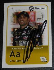 Aric Almirola Signed 2009 Element NASCAR Card #1 Auto'd #43 Ford Car Sprint Cup