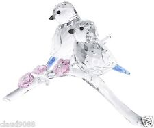 "SWAROVSKI SILVER CRYSTAL  ""BLUE TITS BIRDS COUPLE""  5004727 MINT IN BOX"
