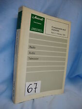 LIBRO - BOOK. COMPONENTS AND MATERIAL. RADIO. AUDIO. TV. PART 3 1975.  COD$*67