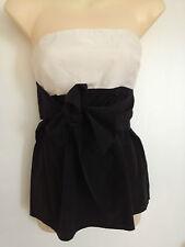 "Women's ""Zara Basic"" Size Small Dressy black and white sleeveless tub top"