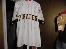 Vintage Pittsburgh Pirates Throwback Baseball Pinstripe Starter Jersey XL! White
