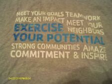 Men'S Gray Exercise Your Potential T Shirt Size Large