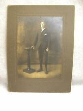 Antique Portrait Photograph Young Boy Knickers Hi Tops Mounted 1800's Tintype ?