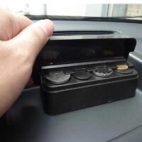 New Car Coin Holder Change Storage Box Case Container Holder Plastic Organizer Q