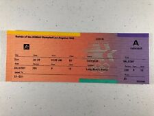 1984 Los Angeles Olympic Games Volleyball Event Ticket, from July 29th - UNUSED