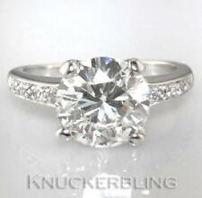 Platinum Engagement Round SI2 Fine Diamond Rings