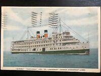 Vintage Postcard>1943>Quebec>Tadoussac>St.Lawrence>Canada>Steamship Lines