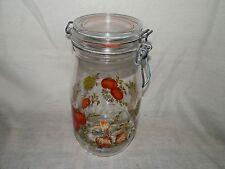Vintage, France, Vegetable Design, 1 1/2L, Canning Jar