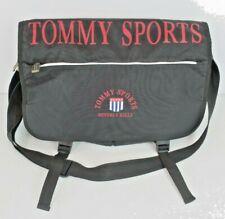 Vtg Tommy Sports Crossbody Messenger Bag Shoulder Laptop Black Red Spellout