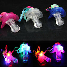 Fashion Pacifier Whistle Party Fun Toy LED Flashing Flash Glow Sticks Bar HUCA