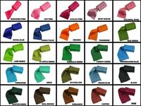 "2-1/2"" DOUBLE FACE By The Yard Roll up Satin Ribbon 100% Polyester Choose Color"