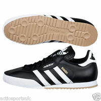 Adidas Originals New Mens's Samba Super Black Leather Fashion Trainers 7 - 12