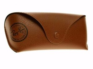 Ray Ban Brown Sunglasses Glasses Case with Free Ray Ban Cleaning Cloth