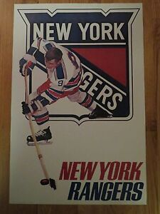 1970s WHEATIES Premium NEW YORK RANGERS NHL Player Poster ROD GILBERT
