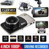 4in Dual Lens Camera HD 1080P Car DVR Vehicle Video Dash Cam Recorder G-Sensor