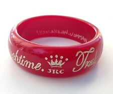 JKC Jessica Kagan Cushman Red Resin Attitude Bracelet Truly Fabulous People