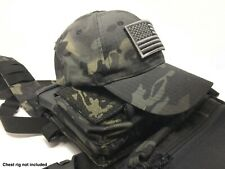 Emproda Multicam Black Tactical Cap Bundle with USA Flag Patch and Moral Patch