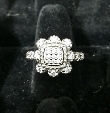 Judith Ripka CZ 925 Cubic Zirconia Sterling Silver ring Size 7