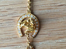Used  Gold Necklace with diamonds CABEZA DE CABALLO RIENDO de DALÍ Collar de Oro