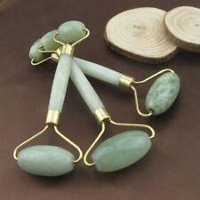 Natural Rose Quartz Facial Jade Stone Roller Beauty Massage Tool Face IZ