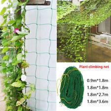 Nylon Trellis Netting Garden Climbing Bean Plant Net Grow Fence Green Support LH