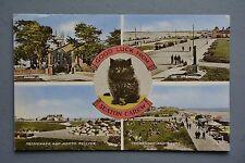 R&L Postcard: Seaton Carew Multiview Lucky Black Cat, Valentine