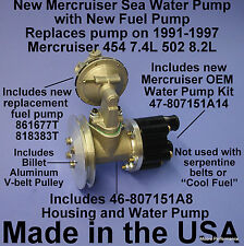 SEA WATER PUMP MERCRUISER W FUEL PUMP AND PULLEY 46-807151A8 818383T 861677T