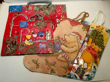 4 Classic Pooh Christmas Gift Bags And Gift Stockings Winnie The Pooh