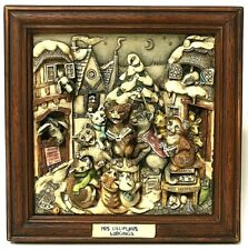 Harmony Kingdom Picturesque Mrs. Lillipurr's Lodgings Cats at Christmas Tile