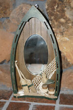 Home Decor Wooden Wall Mounted Boat with Mirror