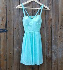 NWT Hollister Size XS Light Sea Green With White Polka Dots Dress Sundress