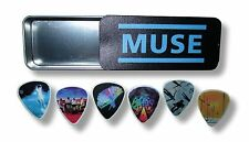Muse Album Covers Guitar Pick Set of 6 Six Collectible Tin New Official Band