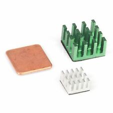 Green & Silver Heatsink for Raspberry Pi 3,Pi 2,Pi Model B+ (Set of 3 Heat V5J6