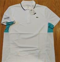 Mens Authentic Lacoste Sport Ultra Dry Polo Shirt White/Papeete 5 (Large) $98