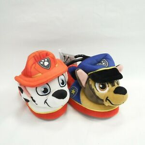 Paw Patrol Marshall and Chase Nickelodeon Toddler Boys' Slip-on Slippers 5-6