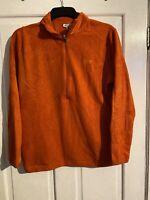 Women's Large Orange Fleece Vintage Retro